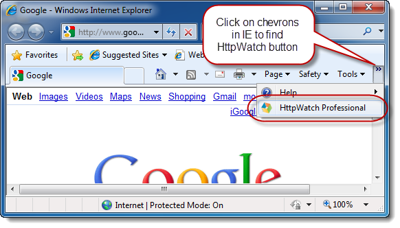 Making the HttpWatch Toolbar Button Visible in IE